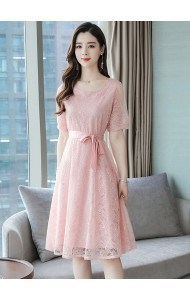 KDS10260115Y Mesh sleeves full lace dress REAL PHOTO