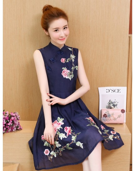 KD10318183M Embroidery florrie organza cheongusm REAL PHOTO