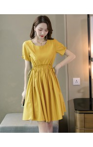 KDS11011586X High waist drawstring dress REAL PHOTO
