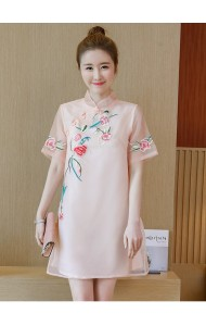 KDS11041551M Embroidery organza cheongsum dress REAL PHOTO