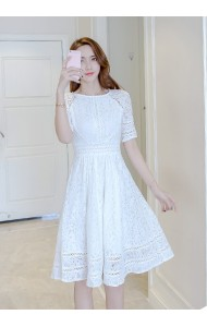 KDS11040326O Midi full lace dress REAL PHOTO