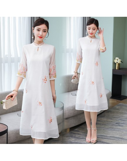 KDS11065351M Embroidery cheongsum dress REAL PHOTO