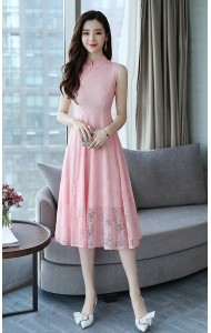 KDS11076852G Full lace cheongsum dress REAL PHOTO