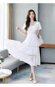 KDS1108518P Plus size tired chiffon dress REAL PHOTO