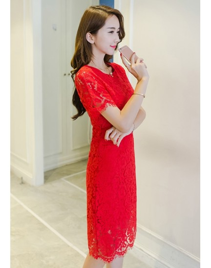 KDS11086326X Full lace dress REAL PHOTO