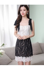 KDS11105618Z Strappy ribbon lace dress REAL PHOTO