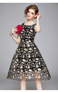 BDS11142155X Embroidery florrie organza dress PHOTO
