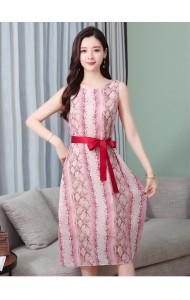 KDS11157209H Florrie chiffon belted dress REAL PHOTO