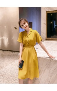 KDS1118858G Plus size collar dress REAL PHOTO