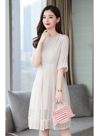 KDS11197391G Lace mesh dress REAL PHOTO