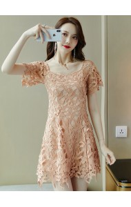 KDS11213699Q Crochet mini dinner dress REAL PHOTO