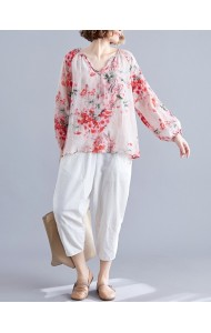 KTP11224165F Puff sleeves florrie blouse REAL PHOTO