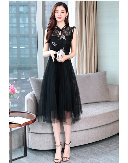 KDS11243695X Lace tulle cheongsum REAL PHOTO