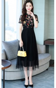 KDS11240159X Lace tulle cheongsum REAL PHOTO