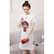 KDS1125669Y Embroidery fuwa cheongsum REAL PHOTO