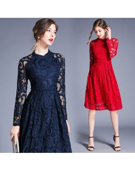 BDS11255038Y Full lace cheongsum REAL PHOTO