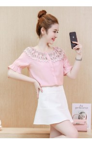 KTP11266818N Crochet collar blouse REAL PHOTO