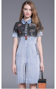 KDS11285122T Sequin embroidery denim jeans REAL PHOTO