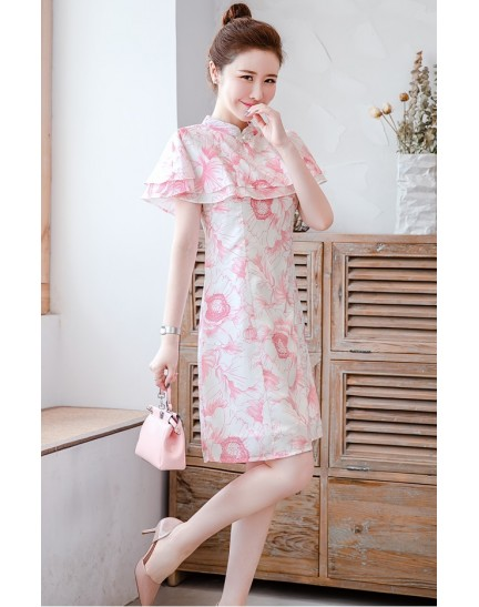 KDS11283788Y Cape floral cheongsum REAL PHOTO