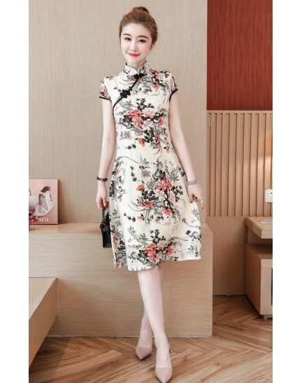 KDS11288388Y Floral cheongsum REAL PHOTO
