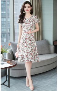 KDS12069195X Plus size floral mermaid dress REAL PHOTO