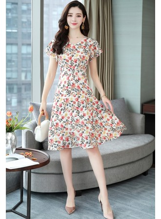 KDS12068195X Plus size floral mermaid dress REAL PHOTO