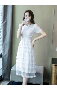 KDS12096882H Premium white tiered dress REAL PHOTO