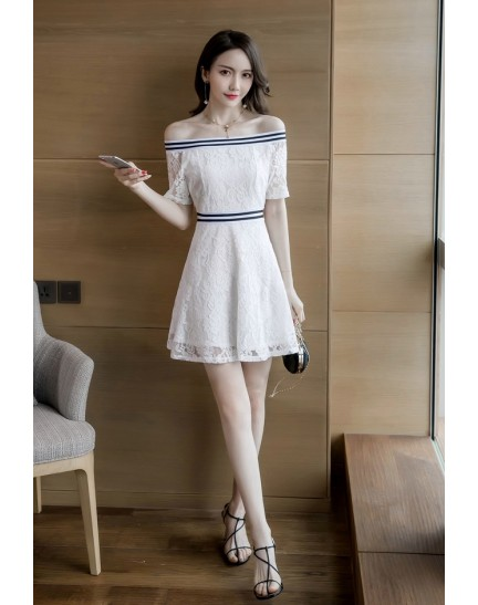 KDS12101301H Off shoulder full lace dress REAL PHOTO