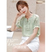 KTP12138248N Chiffon blouse REAL PHOTO