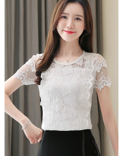 KTP12151078Y Lace blouse REAL PHOTO