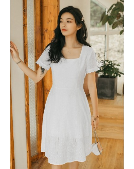 KDS1216808D Premium crochet embroidery dress REAL PHOTO