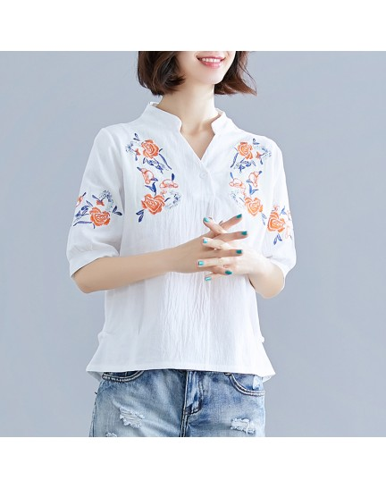KTP12236538Y Ukrainian linen embroidery blouse REAL PHOTO