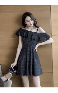 KDS03095109H Premium off shoulder glitter dress