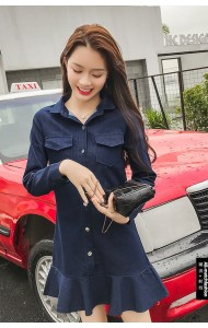KDS03114578D 2020 denim trumpet dress