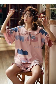 KWS043001086Y Pink cotton sleepwear