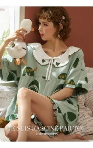 KWS043030018Y Green cotton sleepwear