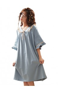 KWS043070316Y BLue cotton sleepwear