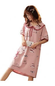 KWS043080613Y BLue cotton sleepwear