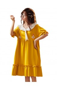 KWS043055316Y Yellow cotton sleepwear