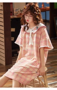 KWS043001316Y Pink checker cotton sleepwear
