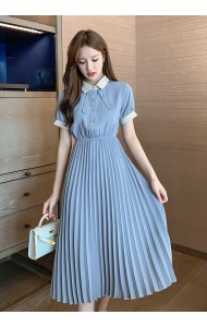 KDS058106S Pleated dress with bow