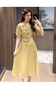 KDS0572668Y Collar belted dress