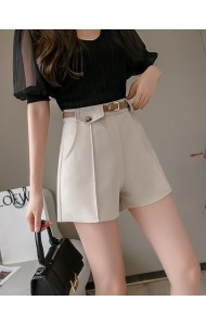 KPT058215K Belted high waist shorts
