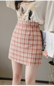 KPT051615K Plaid High waist skirt