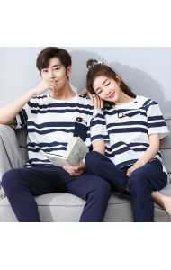 KSW057088S Stripes couple sleepwear pants set