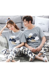 KSW059088S Cloud couple sleepwear pants set