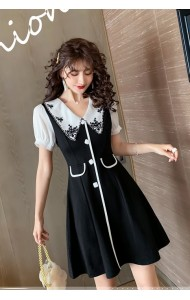 KDS053196C Embroidery collar dress
