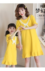 KWS06901S Family sleepwear dress-Yellow