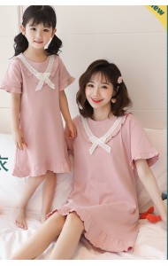 KWS06801S Family sleepwear dress-Pink