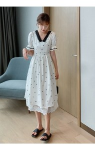 KDS066709H V neck polka dress
